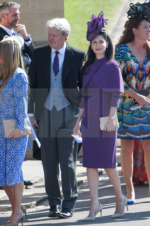 © Licensed to London News Pictures. 19/05/2018. London, UK. EARL of Spencer, brother of Princess Diana and uncle to Prince Harry. Guests arrive at The wedding of Prince Harry, The Duke of Sussex to Meghan Markle, The Duchess of Sussex, at St George's Chapel in Windsor. Photo credit: Ben Cawthra/LNP