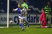 Bristol Rovers Jordan Carey(11) scores a goal 1-0 and celebrates during the The FA Youth Cup match between Bristol Rovers and Forest Green Rovers at the Memorial Stadium, Bristol, England on 2 November 2017. Photo by Shane Healey.