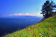 Zabaikalski  National Park, Lake Baikal. Lake Baikal is the oldest (25 million years), deepest (5700 feet) and largest lake in the world by volume(it holds 20% of the earth's liquid fresh water). Threatened by pollution and most recently by an oil pipeline, Baikal has become a rallying point for Russian and international conservationists. Baikal was declared a World Heritage Site in 1996. Boyd Norton, the photographer here, worked with Russian and U.S. environmentalists to get Baikal designated a World Heritage Site.