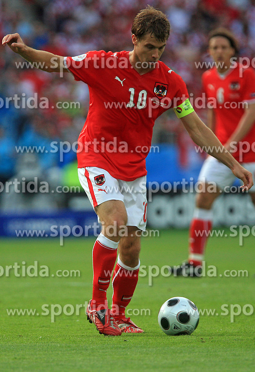 Captain of Austria Andreas Ivanschitz during the UEFA EURO 2008 Group B soccer match between Austria and Croatia at Ernst-Happel Stadium, on June 8,2008, in Vienna, Austria.  (Photo by Vid Ponikvar / Sportal Images)