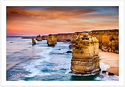 The Twelve Apostles in warm morning light [Great Ocean Road, Victoria, Australia]<br />