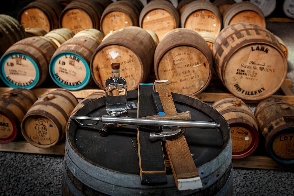 Barrels at Lark Distillery in Hobart, Tasmania, August 25, 2015. Gary He/DRAMBOX MEDIA LIBRARY