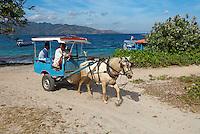 "Indonesie. Lombok. Archipel des Gili. Île de Gili Air. Le ""Dolkar"" le taxi local. // Indonesia. Lombok. Gili archipelago. Gili Air Island. ""Dolkar"", local taxi."
