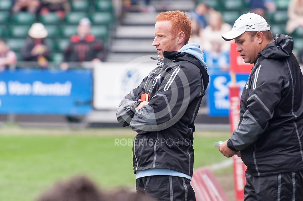 Fiji coach and former England International Dean Ryan. Action from the IRB Emirates Airline Glasgow 7s at Scotstoun in Glasgow. 3 May 2014. (c) Paul J Roberts / Sportpix.org.uk