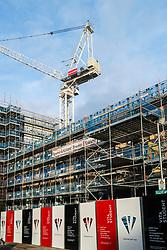 View of new student flats , Vita Student, under construction at Fountainbridge in Edinburgh, Scotland, United Kingdom