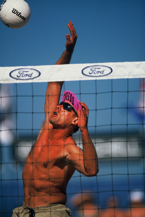 AVP Professional Beach Volleyball - Santa Barbara, CA - 2001 - Karch Kiraly -  Photo by Wally Nell/Volleyball Magazine