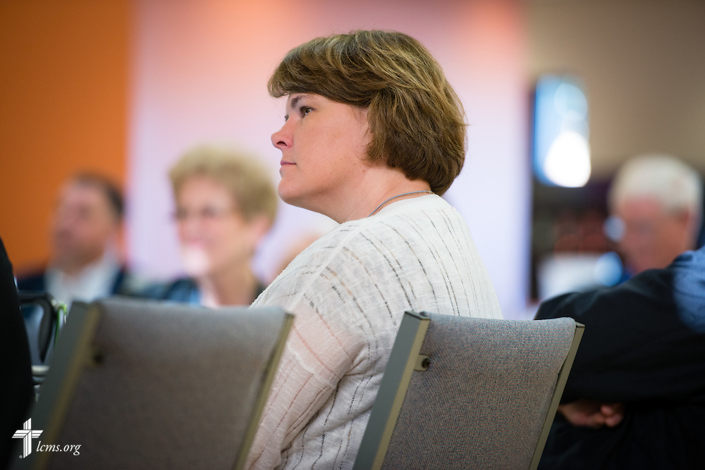 Participants listen during the 2015 Operation Barnabas Conference on Monday, Feb. 9, 2015, at Mount Calvary Lutheran Church in San Antonio, Texas.  LCMS Communications/Erik M. Lunsford