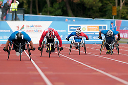 MANNI Henry, MITIC Bojan, MOBRE Sebastien, MANNI Tuomas, 2014 IPC European Athletics Championships, Swansea, Wales, United Kingdom