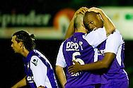 Harkemase Boys - Willem II KNVB Beker seizoen 2011-2012<br /> Rangelo Janga viert het doelpunt met Hans Mulder wiens voorzet door Schreurs (L) werd binnengeschoten<br /> Foto: Geert van Erven