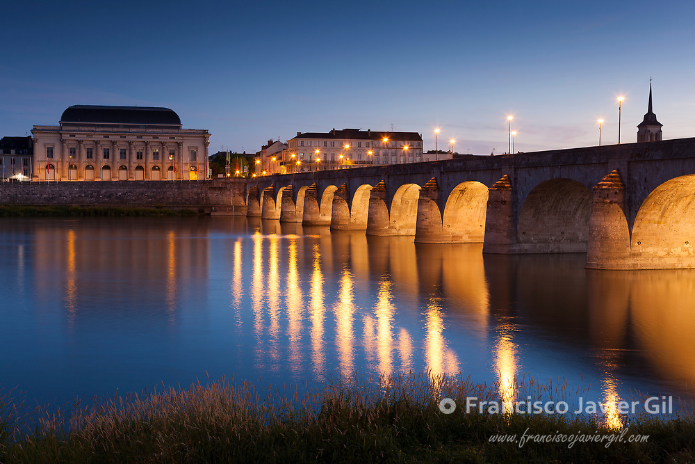 Bridge of Saumur, Pays de la Loire, Maine-et-Loire, France