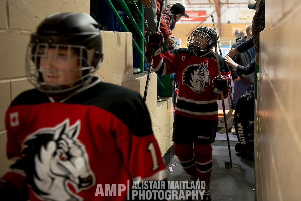 Hockey Day in Whitehorse - PEEWEE A MUSTANGS vs JUNEAU