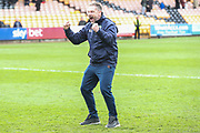 Forest Green Rovers assistant manager, Scott Lindsey at the end of the match during the EFL Sky Bet League 2 match between Port Vale and Forest Green Rovers at Vale Park, Burslem, England on 23 March 2019.