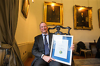 REPRO FREE***PRESS RELEASE NO REPRODUCTION FEE***<br /> Irish Sailing Awards, Royal College of Surgeons, Stephen's Green, Dublin 4/2/2016<br /> National Yacht Club sailor Liam Shanahan was named the 2015 Irish Sailor of the Year today at the Irish Sailing Awards in Dublin - Shanahan had a remarkable year, including victory in the Dun Laoghaire to Dingle race in June on his boat Ruth with two miles to spare.<br /> Kilkenny's Doug Elmes and Malahide's Colin O'Sullivan jointly took home the Irish Sailing Association (ISA) Youth Sailor of the Year award. The Howth Yacht Club sailors were hotly tipped following their recent Bronze medal success at the 2015 Youth World Championships in Malaysia, where they took Ireland's first doublehanded youth worlds medal in 19 years.<br /> The Mitsubishi Motors Sailing Club of the Year award was presented to the Royal Irish Yacht Club in honour of their success at local, national and international level.<br /> Mullingar Sailing Club took home the ISA Training Centre of the Year award, having been nominated as winners of the western-region Training Centre of the Year.<br /> Pictured is Liam Shanahan, 2015 Irish Sailor of the Year, <br /> Mandatory Credit ©INPHO/Cathal Noonan