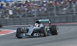 October 23, 2016 - Austin, Texas, U.S - 2016 FORMULA 1, Circuit of the America's, #44 LEWIS HAMILTON of the MERCEDES AMG PETRONAS team in the lead in turn 17. (Credit Image: © Hoss Mcbain via ZUMA Wire)