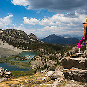 Hiking the back country near Mammoth Lakes, CA in the Eastern Sierras.