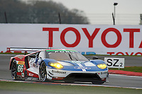 William Johnson (USA) / Stefan Mucke (DUE) / Olivier Pla (FRA) #66 Ford Chip Ganassi Racing Team UK Ford GT,  at Silverstone, Towcester, Northamptonshire, United Kingdom. April 15 2016. World Copyright Peter Taylor.