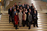 19 FEB 2003, BERLIN/GERMANY:<br /> Obere Reihe, v.L.n.R.: Gabriele Frechen, Sascha Raabe, unbekannte Person, 2. Reihe, v.L.n.R.: Soeren Bartol, Michael Hartmann, Ulrich Kelber, Karsten Schoenfeld, Gesine Multhaupt, 3. Reihe, v.L.n.R.: Siegmund Ehrmann, Ute Berg, Sabine Baetzing,  Carole Reimann, Hubertus Heil, Andreas Weigel, 4. Reihe, v.L.n.R.: Martin Doermann, Christian Lange, Nina Hauer, Kerstin Giese, Anton Schaaf, Untere Reihe, v.L.n.R.: Andrea Wicklein, Caren Marks, Sebastian Edathy, Hans-Peter Bartels, Mitglieder des Netzwerk Berlin, Gruppe junger SPD Abgeordneter des Deutschen Bundestages<br /> IMAGE: 20030219-03-009<br /> KEYWORDS: MdB´s, Youngster