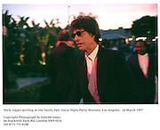 Mick Jagger arriving at the Vanity Fair<br />Oscar Night Party. Mortons. Los Angeles.  24 March 1997<br />Photograph by Dafydd Jones<br />66 Stockwell Park Rd. London SW9 0DA<br />Tel 0171 733 0108
