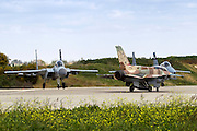 Israeli Air force (IAF) Fighter jet F-15 (BAZ) and F-16 (Netz) on the ground