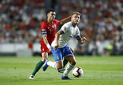 September 10, 2018 - Lisbon, Portugal - Portugal v Italy - UEFA Nations League.Pepe of Portugal and Ciro Immobile of Italy at Estadio da Luz in Lisbon, Portugal on September 10, 2018. (Credit Image: © Matteo Ciambelli/NurPhoto/ZUMA Press)