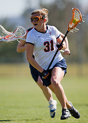 Virginia Cavaliers A Jenny Hauser (31).  The #2 ranked Virginia Cavaliers women's lacrosse team defeated the #4 ranked Syracuse Orange 13-8 at the University of Virginia's Klockner Stadium in Charlottesville, VA on March 1, 2008.