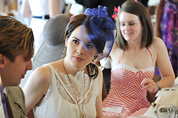MICHELLE DOCKERY at the Investec Derby at Epsom Racecourse, Epsom Downs, Surrey on 4th June 2011.