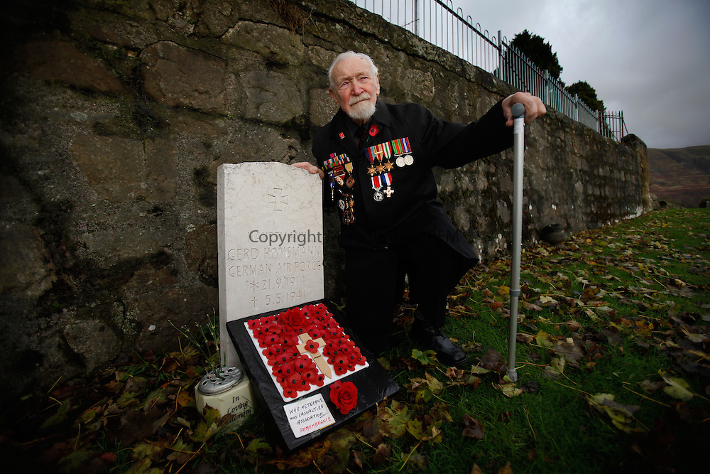 Bishop Ronald Harwood, a former Clydebank anti-aircraft gunner and member of the 8th Army, who remembers a German Airforce pilot, Gert Hansmann, who is buried in Lennoxtown Cemetery.