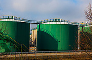 Fuel storage tanks, Hamburg, Germany