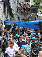 Prince Harry visits the Complexo do Alem&atilde;o, Rio de Janeiro, Brazil, on the 10th March 2012.<br /> PICTURE BY JAMES WHATLING