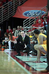 22 January 2014:  Gregg Marshall during an NCAA Missouri Valley Conference mens basketball game between the Shockers of Wichita Stat and the Illinois State Redbirds  in Redbird Arena, Normal IL.