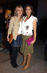 Left to right, SAHAR HASHEMI and JESSICA DE ROTHSCHILD at the launch party for 'The London Look - Fashion From Street to Catwalk' held at the Museum of London, London Wall, Londom EC2 on 28th October 2004<br />