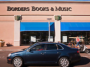 13 FEBRUARY 2011 - PHOENIX, AZ: A Borders Books and Music store in the Biltmore section of Phoenix, AZ, Sunday, Feb. 13. Several business news organizations have reported that Borders Group, the second largest US chain of bookstores, may file for bankruptcy protection as soon as the week of February 14. Borders sales have been hurt by the US economic downturn and the increasing shift to digital media away from traditional media, like books, magazines, music CDs and movie DVDs. Borders has also been slow to move to digital reading devices, like their own Kobo and competitors' Nook and Kindle devices. Borders operates more than 650 bookstores across the US and may close between 150 and 200 of them during their reorganization. In January 2011, Borders group delayed payments to publishers as part of an effort to restructure its financing and avoid a cash shortfall.        Photo by Jack Kurtz