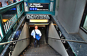 New York City, Subway Entrance, Midtown, Manhattan