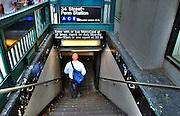 New York City, Subway Entrance, Midtown, Manhattan