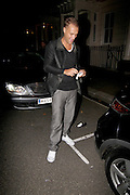 09.SEPTEMBER.2011. LONDON<br /> <br /> *EXCLUSIVE*<br /> <br /> DONNA AIR SPOTTED GOING HOME WITH CALUM BEST. THEY WERE BOTH SPOTTED TOGETHER AT MAHIKI NIGHTCLUB. WHEN LEAVING AS THEY SPOTTED PHOTOGRAPHERS OUTSIDE DONNA GOT INTO HER CAR SEPARATELY AND DROVE DOWN THE ROAD WHERE CALUM THEN GOT IN AND DROVE BACK TO HER HOUSE.THEY WERE TRYING TO HIDE IN THE CAR. WHEN THE REACHED HER PLACE SHE EMERGED FROM THE CAR HIDING HER FACE WHILST CALUM PRETENDED TO SMOKE A CIGARETTE BEFORE RUNNING INTO THE DOOR OF HER APARTMENT. SHE HAS RECENTLY SPLIT FROM HER HUSBAND.<br /> <br /> BYLINE: EDBIMAGEARCHIVE.COM<br /> <br /> *THIS IMAGE IS STRICTLY FOR UK NEWSPAPERS AND MAGAZINES ONLY*<br /> *FOR WORLD WIDE SALES AND WEB USE PLEASE CONTACT EDBIMAGEARCHIVE - 0208 954 5968*