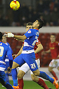QPR midfielder Massimo Luongo keeps his eyes on the ball during the Sky Bet Championship match between Nottingham Forest and Queens Park Rangers at the City Ground, Nottingham, England on 26 January 2016. Photo by Aaron Lupton.