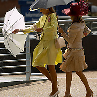 Ascot 20th June 2007 Second day at Royal Ascot with celebrities and members of the Royal Family.Rain at Ascot