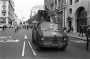 Ravers protesting from their van, 3rd Criminal Justice March,  London, 9th of October, 1994