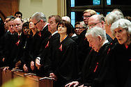 "Illinois judges, law school professors and members of the Catholic Lawyers Guild are in attendance during the 78th Annual Votive Mass of the Holy Spirit, or ""Red Mass"" celebrated at Holy Name Cathedral in Chicago. September 30, 2012 l Brian J. Morowczynski~ViaPhotos..For use in a single edition of Catholic New World Publications, Archdiocese of Chicago. Further use and/or distribution may be negotiated separately. Contact ViaPhotos at 708-602-0449 or email brian@viaphotos.com."