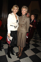 Left to right, LADY de MAULEY and PRINCESS JUNE LOBANOV-ROSTOVSKY at a carol concer 'Carols From Chelsea - A Celebration of Christmas' held at the Royal Hospital Chapel, Chelsea in aid of The Institute of Cancer Research on 4th December 2007.<br /><br />NON EXCLUSIVE - WORLD RIGHTS