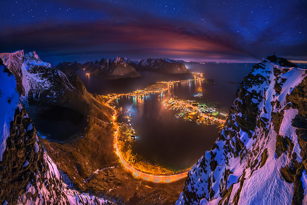 Lofoten, Norway, Reine, reinebringen, winter, photography, mountains, max rive
