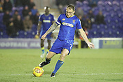 AFC Wimbledon defender Barry Fuller (2) passing the ball during the EFL Sky Bet League 1 match between AFC Wimbledon and Wigan Athletic at the Cherry Red Records Stadium, Kingston, England on 16 December 2017. Photo by Matthew Redman.