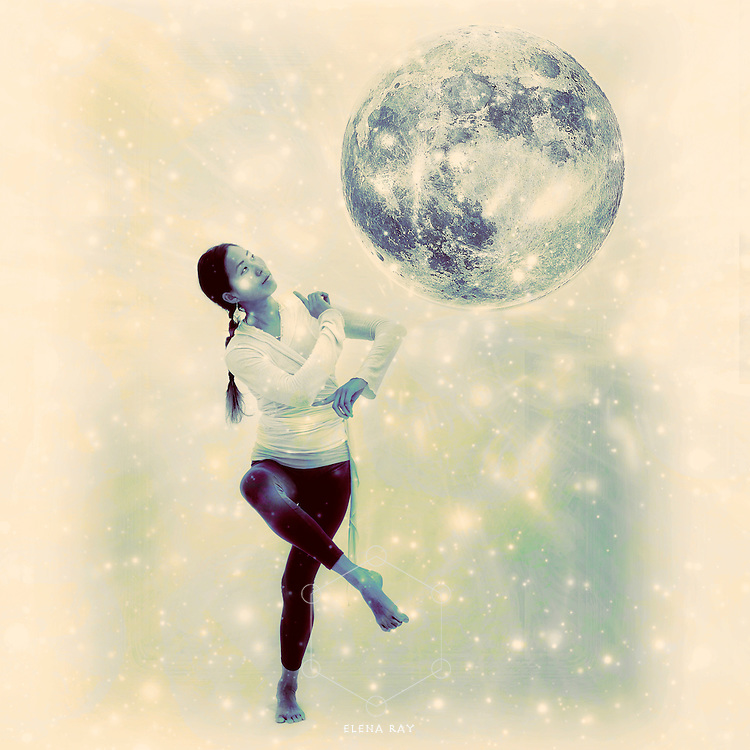 Photo illustration of a full moon dancer.
