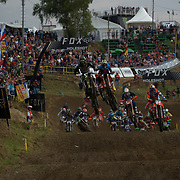 Max Anstie with a good start and eventual finish in Saturday's qualifier. Sunday Max could not buy a start.