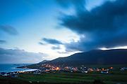 Achill Island. Atlantic Drive. Dooagh village.