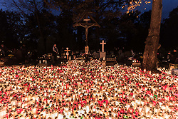 November 1, 2018 - Wroclaw, Poland - All Saints' Day in Poland - November 1st Polish people visit mass graves of their loved ones. (Credit Image: © Krzysztof Kaniewski/ZUMA Wire)