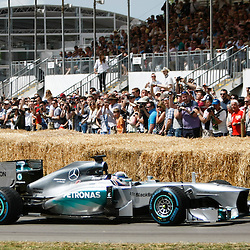 Mercedes MGP W04 driven by Lewis Hamilton at the Goodwood Festival of Speed, June the 27th. © Sam Todd | SportPix.org.uk