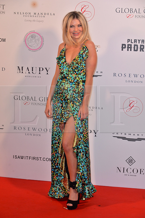 © Licensed to London News Pictures. 24/04/2018. London, UK. GEORGIA TOFFOLO attends The Global Gift Foundation Nelson Mandela Centenary Dinner at Rosewood London. Photo credit: Ray Tang/LNP