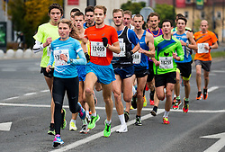 Marusa Mismas leading the group at 10km Run at Volkswagen 22nd Ljubljana Marathon 2017, on October 29, 2017 in Ljubljana, Slovenia. Photo by Vid Ponikvar / Sportida