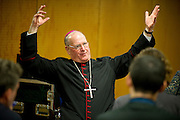 Archbishop Timothy Dolan at a press conference